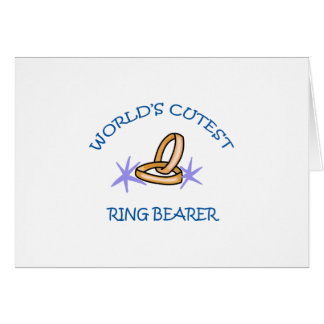 RING BEARER GREETING CARD