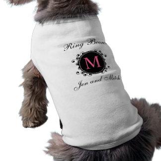 Ring Bearer Monogram Wedding Dog Shirt