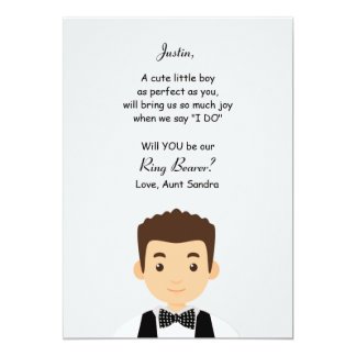 Ring Bearer Request Card 13 Cm X 18 Cm Invitation Card