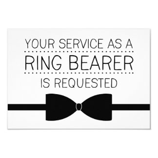 Ring Bearer Request | Groomsmen 9 Cm X 13 Cm Invitation Card