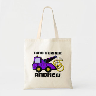 Ring Bearer Tow Truck Purple Budget Tote Bag