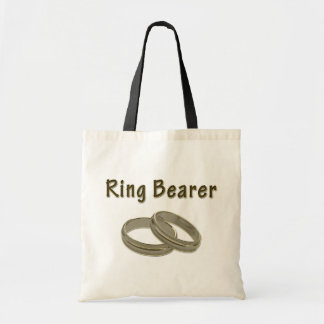 Ring Bearer With Golden Rings Tote Bag