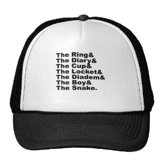 Ring & Diary & Cup & Locket & Diadem & Boy & Snake Cap