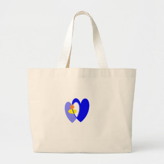 ring heart jumbo tote bag