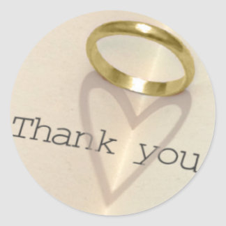 Ring | Heart Shadow Thank You Round Sticker
