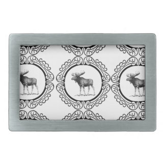 ring herd of moose belt buckle