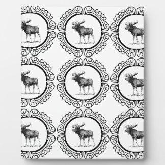 ring herd of moose plaque