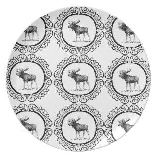 ring herd of moose plate