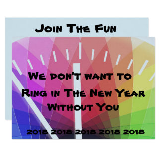 Ring in the New Year Invitation