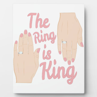 Ring Is King Photo Plaques