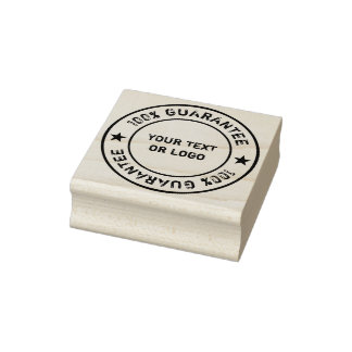 Ring Label & Icons + your curved & Text or sign Rubber Stamp