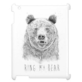 Ring my bear (bw) case for the iPad 2 3 4