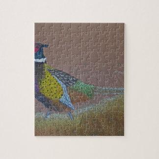 Ring Neck Pheasant Wild Bird Jigsaw Puzzle