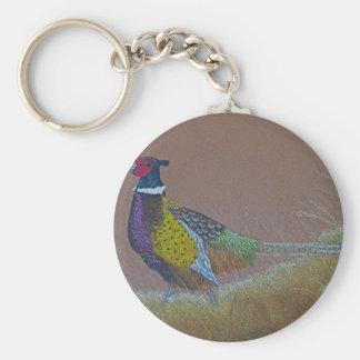 Ring Neck Pheasant Wild Bird Key Ring