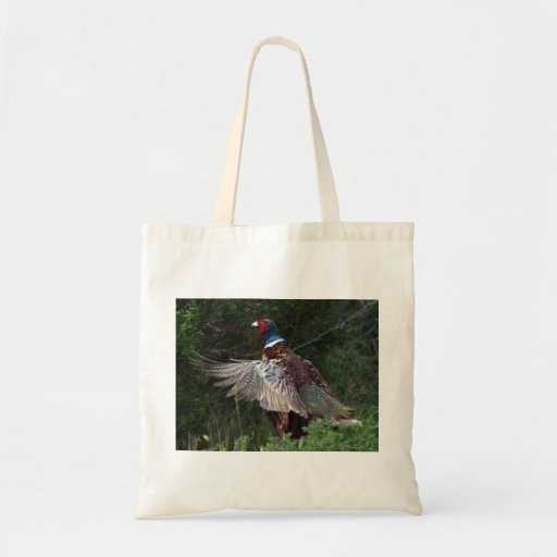 Ring Necked Pheasant Canvas Bag