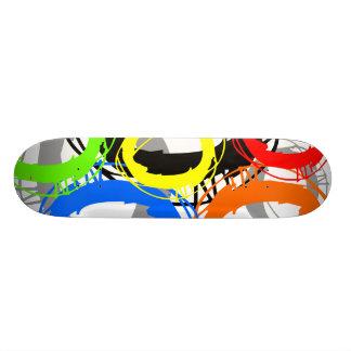 Ring Neon Color Skateboard