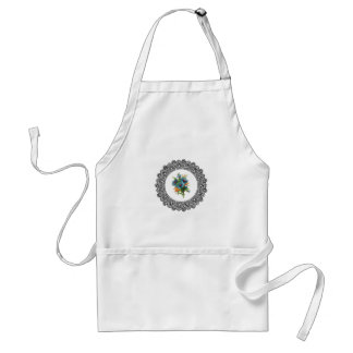 ring of blue flowers standard apron