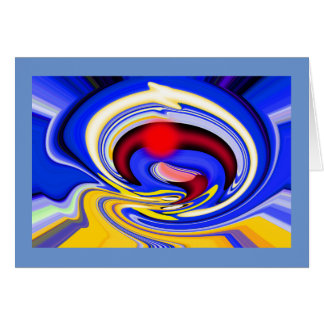 Ring of cosmic fire greeting card