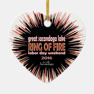 Ring Of Fire 2016 Ceramic Heart Decoration