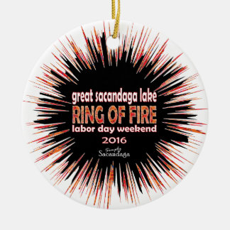 Ring Of Fire 2016 Round Ceramic Decoration