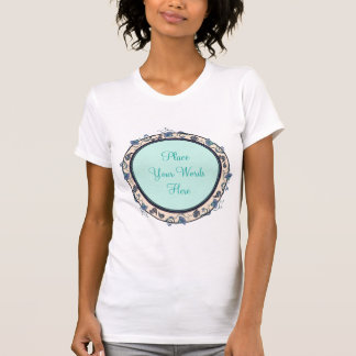 Ring of Floral Vines Your Words T-Shirt