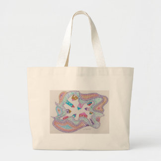 ring of houses canvas bag