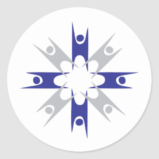 Ring of Humanists Round Sticker