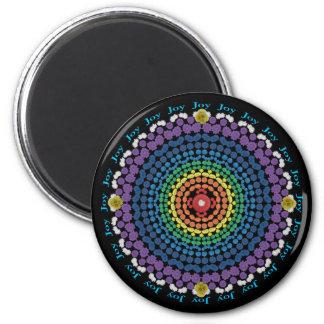 Ring of Joy Rainbow Mandala Fridge Magnet