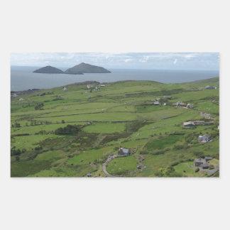 Ring Of Kerry Ireland Irish Ocean View Rectangular Sticker