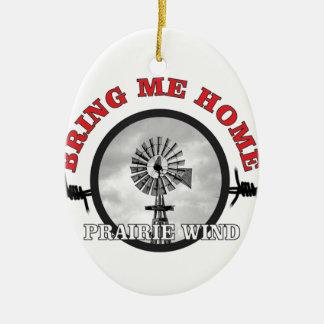 ring of prairie wind ceramic ornament
