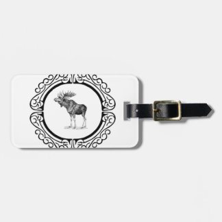 ring of the bull moose luggage tag