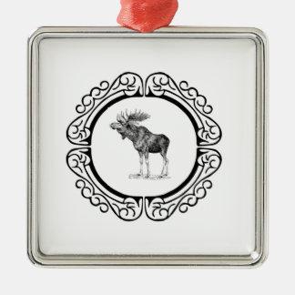 ring of the bull moose metal ornament
