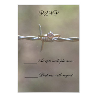 Ring on Barbed Wire 9 Cm X 13 Cm Invitation Card