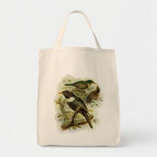 Ring Ouzel Bird Family Vintage Portrait Tote Bag