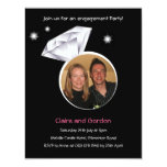 Ring Photo Engagement Party Invitation 11 Cm X 14 Cm Invitation Card