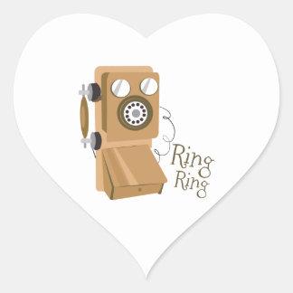 Ring Ring Heart Sticker