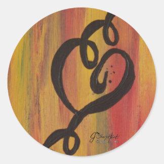 Ring, Ring, Ring Round Sticker