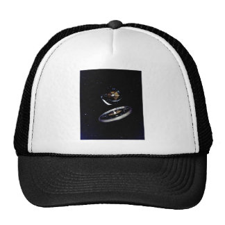 Ring Space Station Trucker Hats