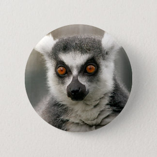 ring tail lemur 6 cm round badge