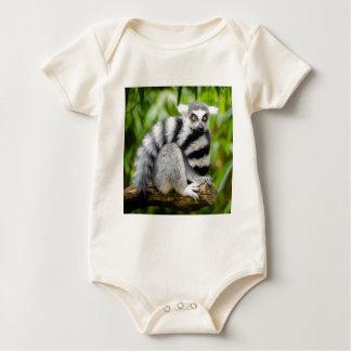 Ring-tailed lemur baby bodysuit
