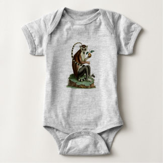 Ring-Tailed Lemur Baby Bodysuit