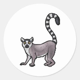 Ring Tailed Lemur Classic Round Sticker