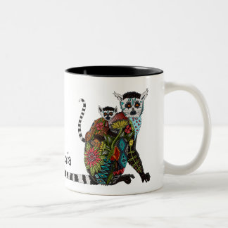 Ring Tailed Lemur Love Two-Tone Coffee Mug