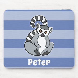 Ring-Tailed Lemur - Personalized Cute Animal Mouse Pad