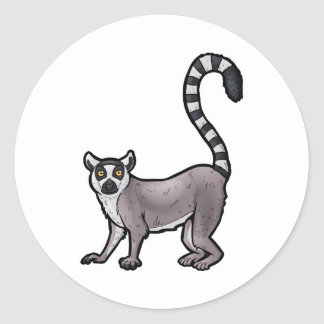 Ring Tailed Lemur Round Sticker