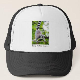 Ring-tailed lemur trucker hat