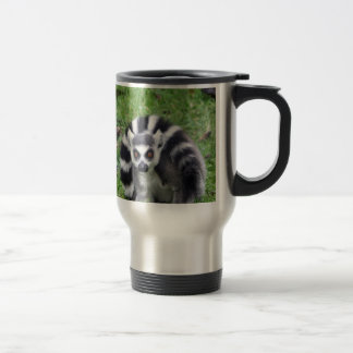 ring tailed lemur waiting for mom and lover travel mug