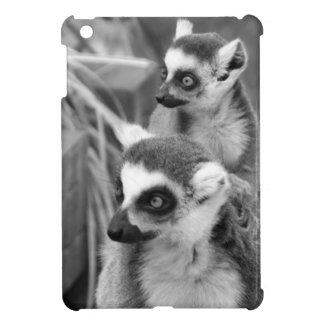 Ring-tailed lemur with baby black and white case for the iPad mini