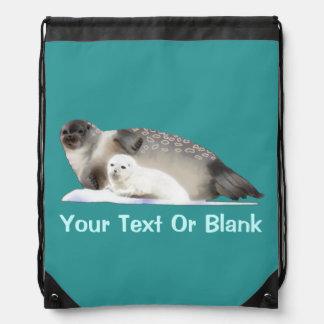 Ringed Seal Drawstring Bag