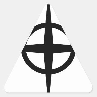 Ringed Star Triangle Sticker